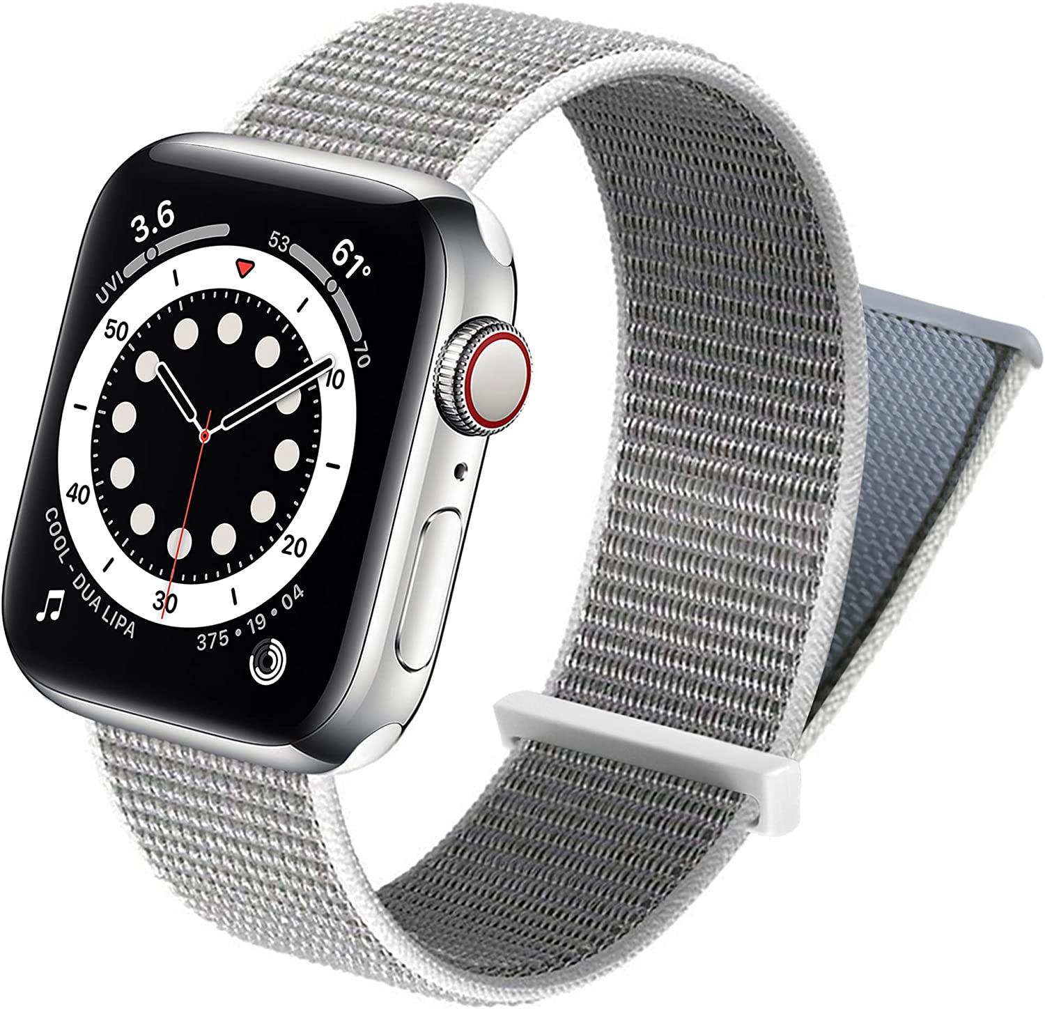ecband Adjustable Nylon Sport Loop Compatible with Apple Watch Band 38mm 40mm 42mm 44mm, Women Men Braided Weave Strap Band for iWatch Series 6 5 4 3 2 1 SE