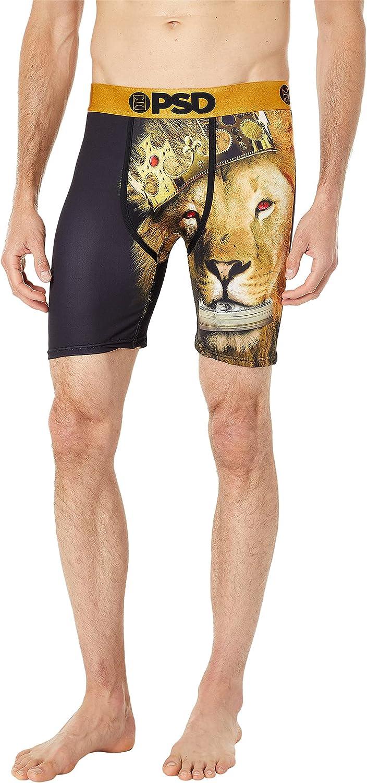 PSD Underwear Men's Jungle King Printed Boxer Briefs