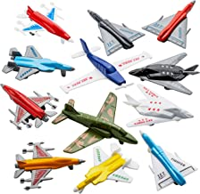Airplane Toys - 12 Pack Vehicle Aircraft Plane Playset, Includes Styles of Bomber, Military, F-16 Fighter Jets, for Birthd...