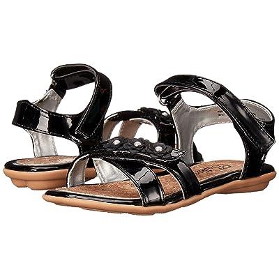 Jumping Jacks Kids Balleto Wink (Toddler/Little Kid/Big Kid) (Black Shiny) Girls Shoes
