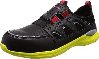 [シモン] プロスニーカー 短靴 JSAA規格 耐滑 軽快 スニーカー スリッポン 反射 KL517黒/イエロー