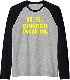 Halloween Immigration Customs Enforcement Border Patrol Raglan Baseball Tee