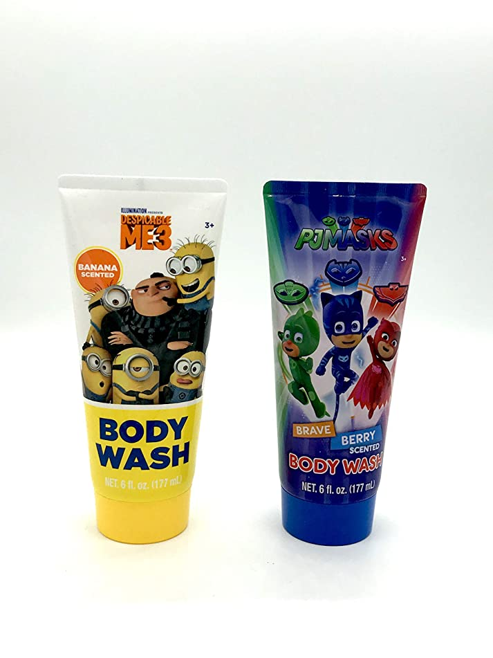 Children's Character Body Wash Set- PJ Masks and Despicable Me 3