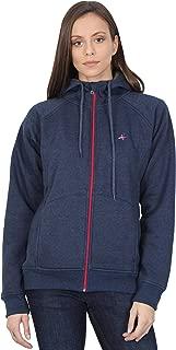 HIVER Full Sleeve Solid Women's Sweatshirt Winter Wear Fleece Sweatshirt Hoodies Jackets for Women Ladies