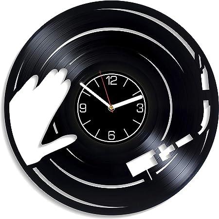 Dj Gift For Boy Dj Personalized Vinyl Clock Custom Wall Clock Vintage Birthday Gift Personalized Vinyl Record Clock Wall Clock Gift Idea