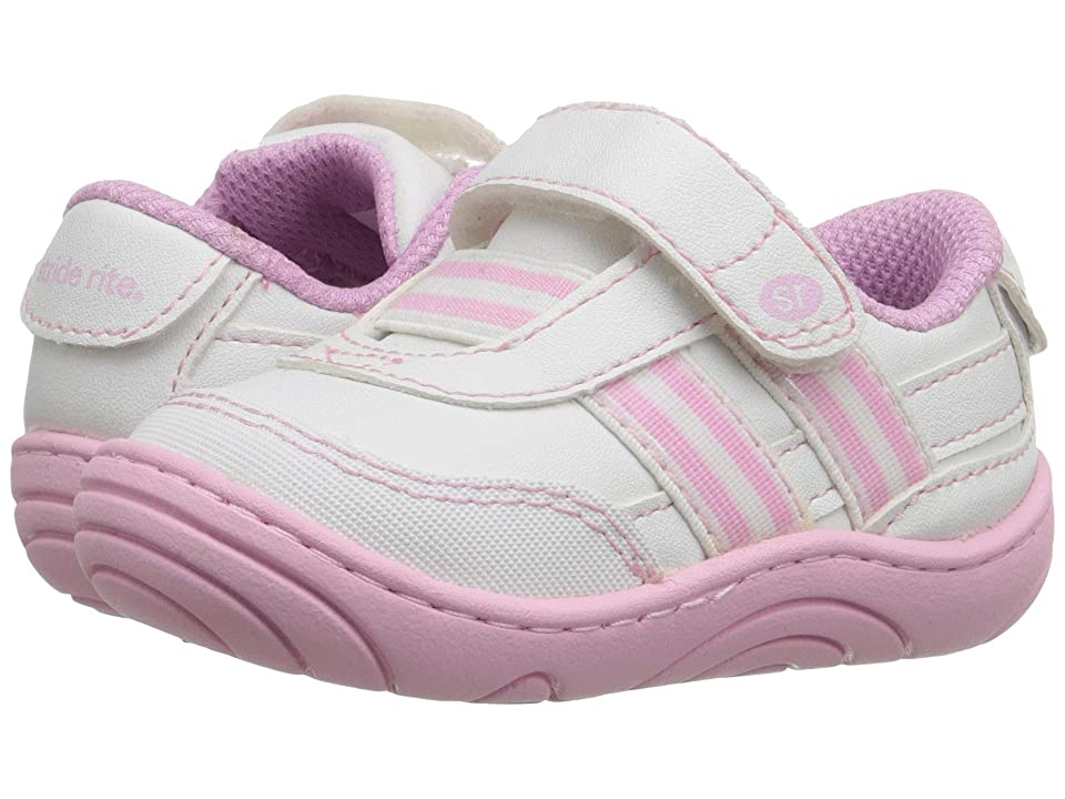 Stride Rite Keeva (Little Kid/Big Kid) (White/Pink Synthetic) Girl