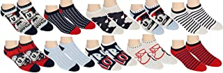Disney, Womens Minnie Mouse No Show Ankle Socks 10 Pair Pack Multi-Color