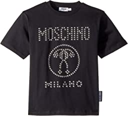 Moschino Kids Short Sleeve Stud Logo T-Shirt (Big Kids)