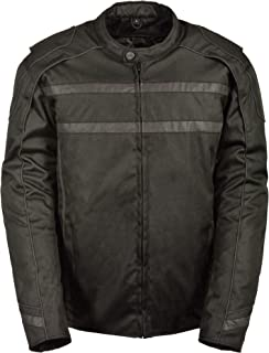 Milwaukee Men's Textile Scooter Jacket with Reflective Tape (Black, 4X-Large)