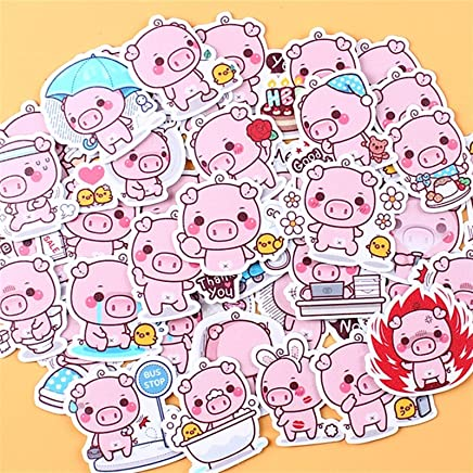 40pcs Creative Kawaii Self-Made Pink toot Pig Stickers/Beautiful Stickers/Decorative Sticker