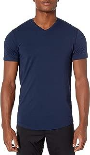 Peak Velocity Amazon Brand Men's Pima Cotton Modal V-Neck Tee