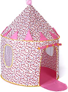 Sonyabecca Cotton Castle Tent Princess Playhouse Indoor Outdoor Foldable Pop-up Birthday Gift