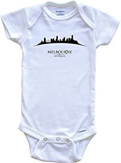 Melbourne Australia Cityscape Downtown Skyline Baby Onesie
