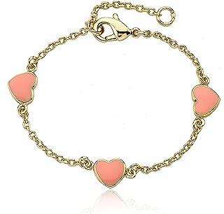 I Love My Jewels 14k Gold-Plated Multi Color Hearts Bracelet