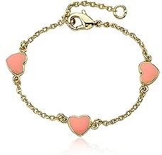 Little Miss Twin Stars I Love My Jewels 14k Gold-Plated Multi Color Hearts Bracelet