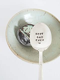 Best Dad Ever Hand Stamped Spoon Fathers Day Gift