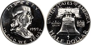 1959 GEM PROOF (PR63 PLUS) - FRANKLIN HALF DOLLAR 1/2 Proof US Mint