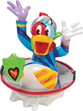 Enesco Disney by Britto Donald Duck in Disk Sled Figurine, 3.25-Inch