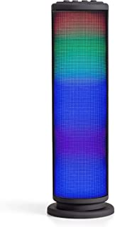 Riptunes Portable Bluetooth Speaker, Wireless Speakers, Mini Tower Speaker with Colorful Lights, Aux-in, Micro SD, USB, Hands-Free Speakerphone and FM Radio - Black