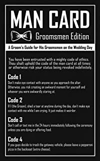 Groomsmen Gifts - The Man Card - Groomsmen Proposal or Groomsman Gifts for Wedding Day (6 Pack)