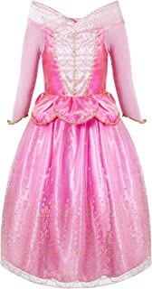 FUNNA Sleeping Princess Costume for Beauty Girls Dress up