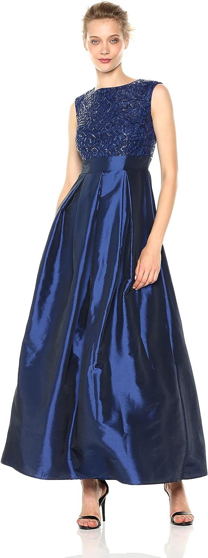 Chetta B Women's Sequin Satin Gown