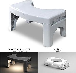 VOUNOT Squatty Potty con Luz del Sensor de Movimiento, Taburete de baño Plegable para Ponerse en Cuclillas en el Inodoro, Antideslizante Anti constipación Curar Squat hemorroides