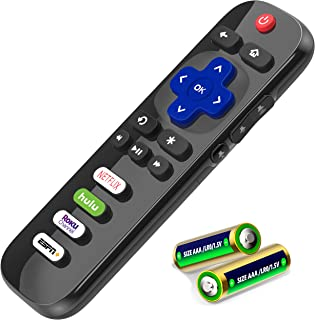 EWO'S Universal Remote Control for All TCL Roku TV Remote LED QLED UHD HDR Smart TVs, with Buttons for Netflix, Hulu, ESP...