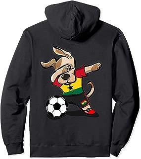 Dog Dabbing Ghana Soccer Jersey Ghanaian Football Hoodie Tee