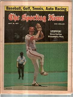 The Sporting News Newspaper July 30, 1977 Stopper! Phillies' Steve Carlton GOOD