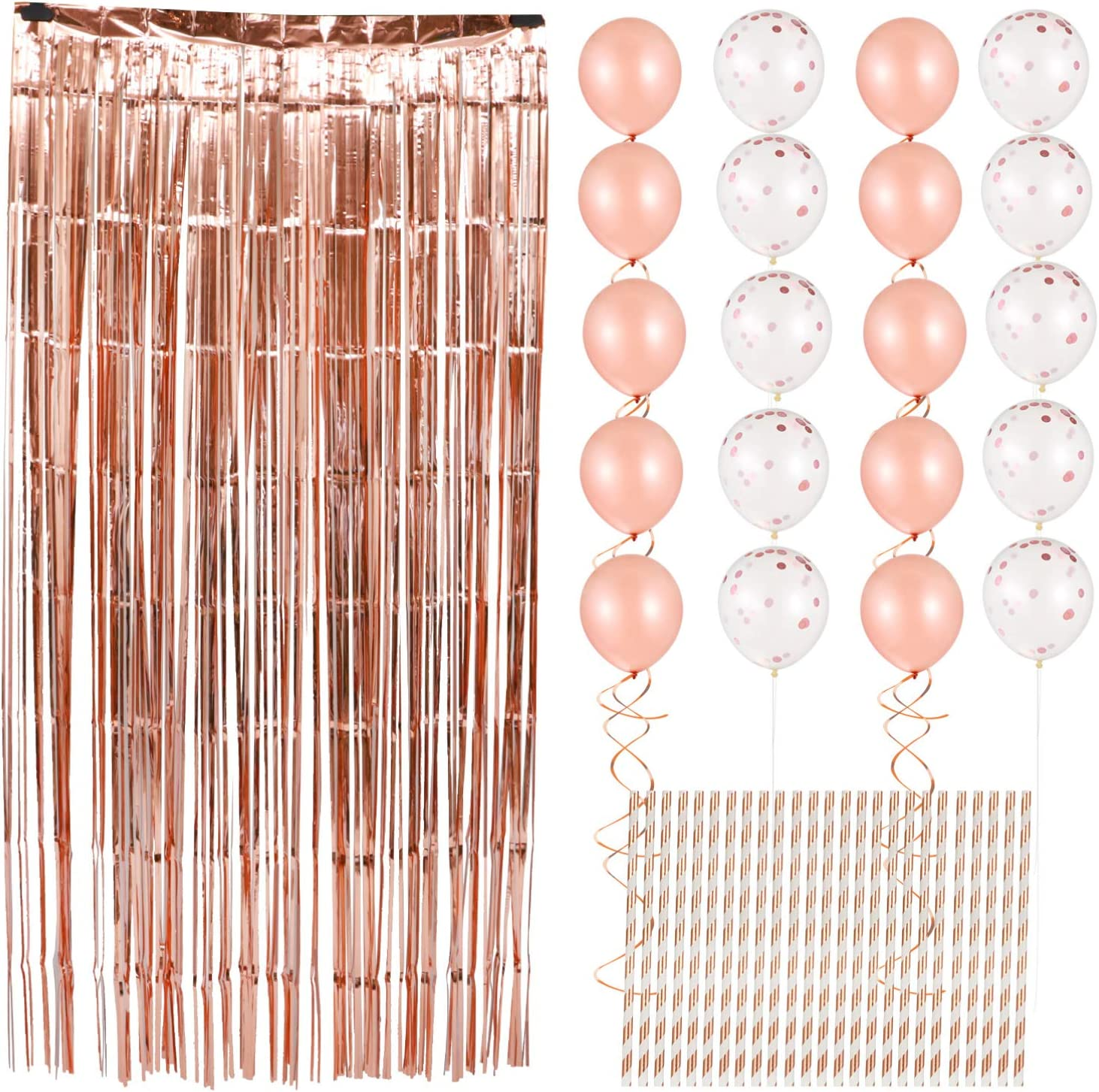 VOSAREA 1 Inexpensive Set Ultra-Cheap Deals Rose Gold Balloons Suppl Wall Party Decoration and