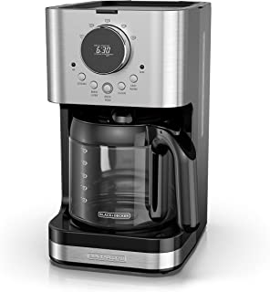 BLACK+DECKER CM4202S Select-A-Size Easy Dial Programmable Coffeemaker, Extra Large 80 ounce Capacity, Stainless Steel