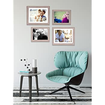 Art Street - Set of 4 Individual Beige Wall Photo Frames Wall Hanging(2 Units 6X8, 2 Units 8X10 inch)