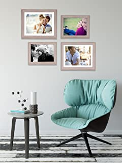Art Street - Set of 4 Individual Beige Wall Photo Frames Wall Hanging(2 Units 6X8, 2 Units 8X10 inch)