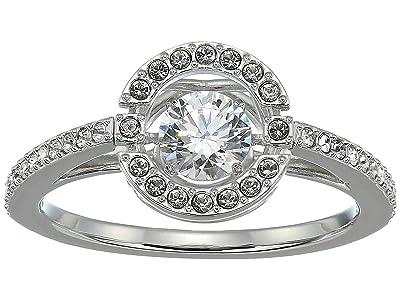 Swarovski Sparkling Dance Round Ring (Rhodium/Rhodium Shiny Plating) Ring