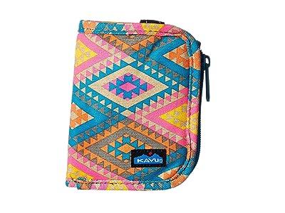 KAVU Zippy Wallet (Rhombus Rug) Bags