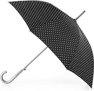 totes Totes Auto Open Water-Resistant Stick Umbrella, Swiss Dots (Multi) - 9710