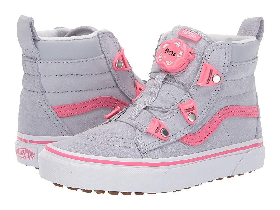 Vans Kids SK8-Hi MTE Boa (Little Kid/Big Kid) ((MTE) Gray Dawn/Pink) Girls Shoes