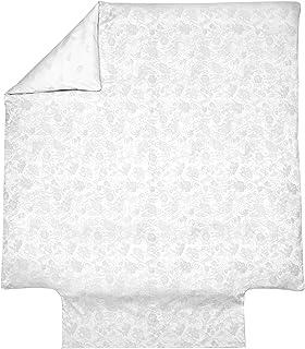 Blanc des Vosges Hesperide Nacre Housse de Couette 240 x 220 cm - Satin Jacquard 100% Coton