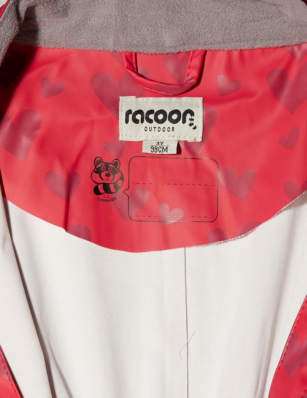 Racoon Baby-M/ädchen Regenjacke