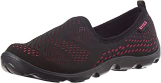 Crocs Womens Duet Busy Day Xpress Mesh Skimmer,Black/Candy Pink,US 6 M