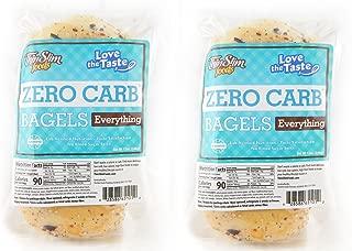 ThinSlim Foods Love-The-Taste Low Carb Bagels, 2pack (Everything)