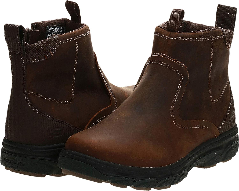 Skechers Men's Resment-Korver Chelsea Boot Side Zip Hiking