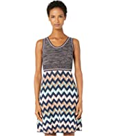 M Missoni - Sleeveless Short Dress with Zigzag & Space Dye