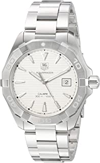 TAG Heuer Men's 'Aquaracer' Swiss Automatic Stainless Steel Dress Watch, Color:Silver-Toned (Model: WAY2111.BA0928)