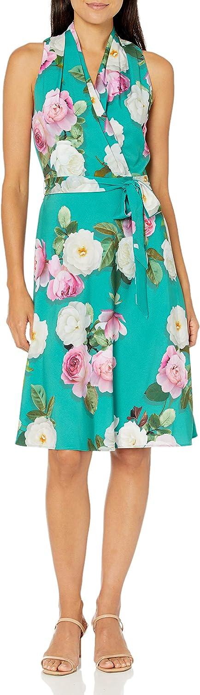 Adrianna Papell Women's Peony Printed Bias Dress