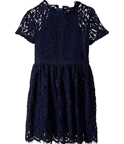 Bardot Junior Lace Panel Dress (Big Kids) (Navy) Girl