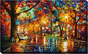 Amazon Com Picture Perfect International Giclee Stretched Wall Art By Leonid Afremov Colorful Night Artists Canvas 18 X 30 X 1 Posters Prints