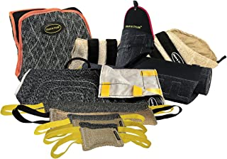 Dean & Tyler 9-Piece Professional Training Bundle Set for Dogs with 1 Tri-Bite Sleeve/1 French Linen Cover/1 Advanced Bite Builder/6 Mixed Tugs