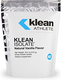 Klean Athlete - Klean Isolate - Whey Protein Isolate to Enhance Daily Protein and Amino Acid Intake for Muscle Integrity -...